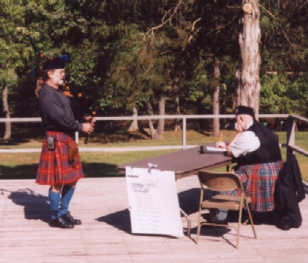 Bagpipe Competition, Batesville, AR 04/2003 Piper of the day