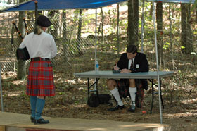 Bagpiping on the Competition Boards, Stone Mountain, October 2007